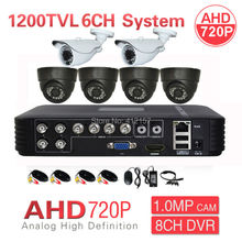 Home CCTV 8CH 1080P HDMI 3-IN-1 DVR HVR NVR AHD 720P 6CH 1200TVL Security Camera System P2P PC Phone MobileView Surveillance Kit