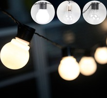 Connectable 5cm ball festoon LED Globe string Light Christmas light fairy lights bulb Outdoor Garland Garden Party Wedding Decor