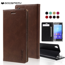MERCURY Case for Sony Xperia M4 Aqua Case PU Leather Shell Brand Mobie Phone Bag Cover for Sony Xperia M4 Aqua Dual Cover Shell