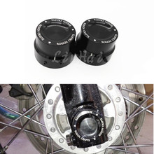Motorcycle Black CNC Aluminum RC Front Axle Cover Cap Nut For Harley Sportster XL883 XL1200