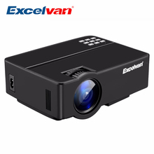 Excelvan E08 2500Lumen LED Projector Home Cinema 1080P Support Multi-screen Interaction Via Data Cable PK AM01 Portable Projetor