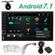 Free backup camera+ Android 7.1 Octa Core Car Radio Double 2 Din In Dash Bluetooth Stereo Support GPS Navigation 3G WIFI OBD2(China)