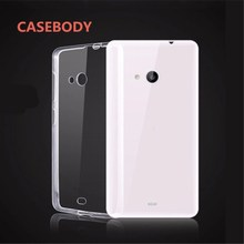 CASEBODY For Nokia 9 Case Clear Transparent Soft TPU Case For Nokia Lumia 640 535 830 930 950 640XL N 6 7 8 9 0.6mm Back Cover(China)