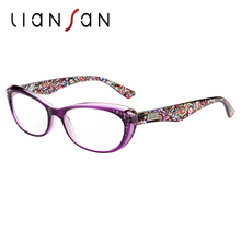 LianSan Fashion Vintage Plastic Anti-reflective Reading Glasses Women Men Lightweight Original Brand Hyperopia Presbyopia L3705(China)