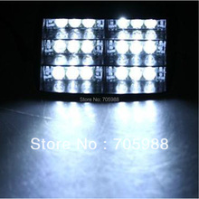 Super brightness White 18 LED Emergency Vehicle Strobe Lights for Deck Dash Grille