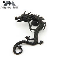 YouMap Jewelry Retro Punk Rock Dragon Ear Cuff Earring Alloy Quality Black Silver Bronze Clip Earrings C26R12C