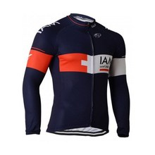 winter thermal fleece team IAM blue cycling jerseys long sleeve warmer bike cloth MTB Ropa Ciclismo Bicycle maillot only