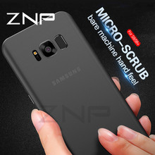 ZNP Ultra Thin Matte Transparent Phone Case For Samsung Galaxy S7 S6 Edge S8 0.3mm Phone Cover For Samsung S8 Plus Note 8 Case(China)