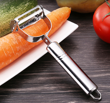 Stainless steel peeler paring knife Stainless steel double face grater Fruit and vegetable melon plane kitchen gadgets