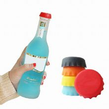 Hourong 6Pcs/lot  Keep Bear fresh Wine Stopper Silicone Original Wine Bottle Cover Beer Wine Bottle Cap Kitchen Gadget