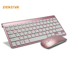 Ultra Thin Wireless keyboard mouse 2.4G keyboard Mouse combo and 2.4G USB Receiver for Macbook,Computer PC,Laptop and TV BOX(China)