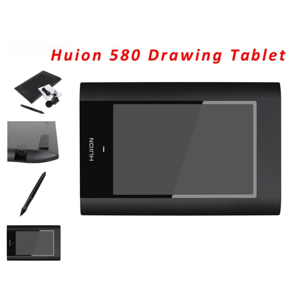 Hot Sale New HUION 580 8 X 5 Graphic Pen Tablets Professional Signature Digital Boards USB Graphics Pen Tablet For PC Black<br><br>Aliexpress