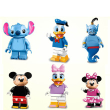 Cute Animal mini dolls Mouse Duck Genie Daisy LEPIN Building Assemble Doll 3D  Model Building Blocks Models & Building Toys