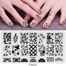1 PCS 12*6cmLace Flowers Style 3D DIY Plastic Manicure Nail Stamping Plates Sheets Stamp Template Print Nail