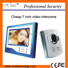 Cheap price and good quality free shipping 7inch color screen video door bell video intercom video door phone(China)