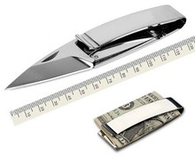 Yofeil 1 PC brand new Outdoor Multi Pocket Stainless steel folding knife wallet Money Clip(China)
