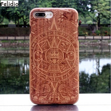 Felidio Wooden Case for iPhone 6 6s 7 Plus Covers for iPhone 8 iPhone 8 Plus Cases Hardcase for iPhone SE 5s 5 Handmade Carving(China)