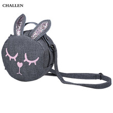 Flap-eared Sweet Girls Bunny Cotton Cloth Handbags Color Block Bags This cute This is an idiot rabbit, you'll like it