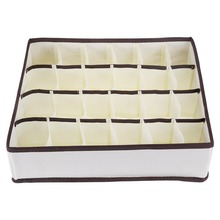 24 Cells Non-Woven Fabric Folding Storage Box 33.5*31*9CM For Socks Ties Bra Underwear Organizer Closet Drawer Divider