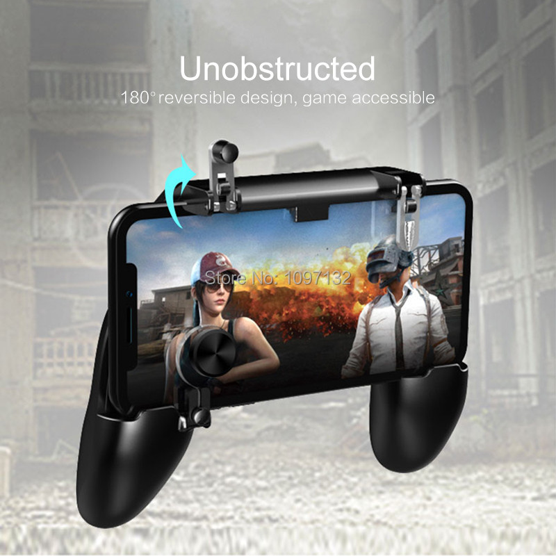 PUBG Mobile Game Controller Gamepad Trigger Aim Button L1R1 Shooter Joystick For IPhone Android Phone For Game Pad Accesorios (2)