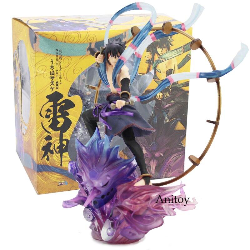 Naruto Shippuden Uzumaki Naruto Fujin / Uchiha Sasuke Raijin PVC Figure Collectible Model Toy 16.5-18cm<br>
