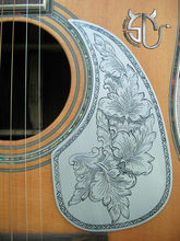 Free shipping custom guitar accessory  aluminum pickguard for 40/41 wood guitar retro flower pattern can be customized
