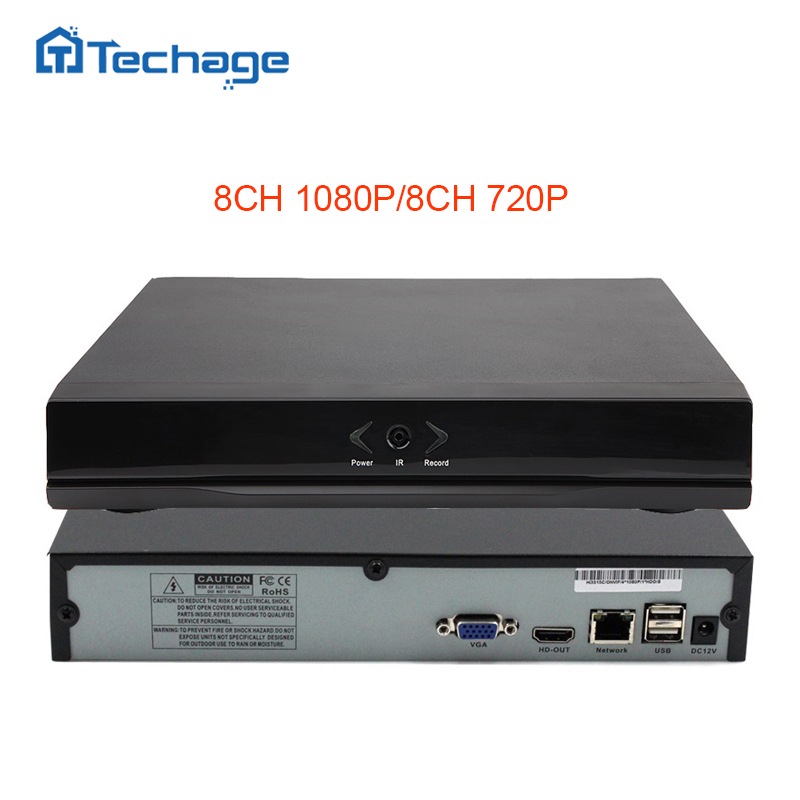 Techage Mini NVR Full HD 8 Channel Security CCTV NVR 1080P 8CH ONVIF 2.0 P2P Cloud Network Video Recorder For IP Camera System <br>