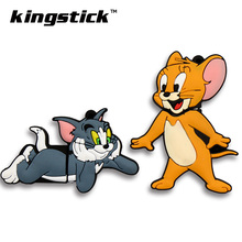 Cute Cartoon Tom Cat Jerry Mouse usb flash drive 4gb 8gb 16gb pen drive 32GB 64gb flash memory stick drive u disk pendrive gift