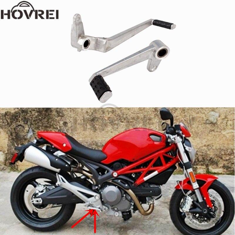 Gear Shift Rear Foot Lever Pedal For Ducati 696 2009 10 11 12 13 Silver