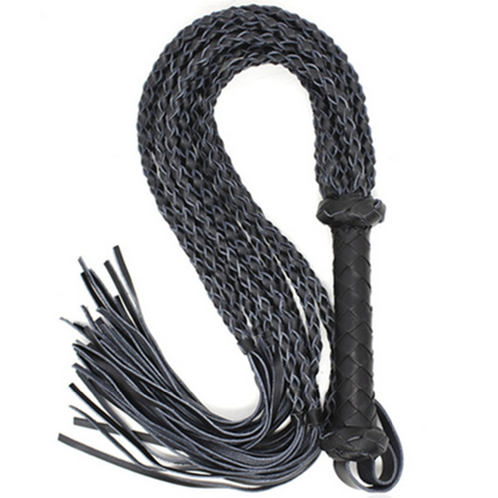 80 CM Sex Long Genuine Leather Whip Flogger Ass Spanking Bondage Slave Bdsm Flirting Toys In Adult Games For Couples<br>