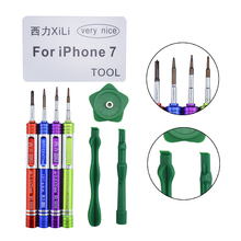 Fixparts Hot 8 in 1 Repair Tools for iPhone 7 Teardown Opening Tools Ki Opening Metal Screwdriver Set with Storage Box(China)