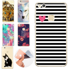 Pattern Silicone Phone Case For Huawei Honor 8 Lite 4A 5A 9 Y6 II Pro 5X P7 P8 P9 P10 Cartoon Cat Stripes Heart TPU Casing Coque