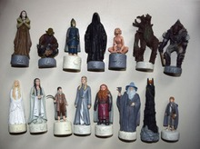 Lot of 15 LOTR The Lord of the Rings The Hobbit Chessmen Chess Statue Figure