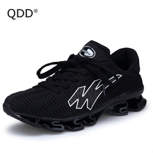 QDD Blade Sole Tank Bottom Running Shoes, Premium Quality Elastic Sole, More Big Sizes Available EUR 39-48 Men Running Shoes.