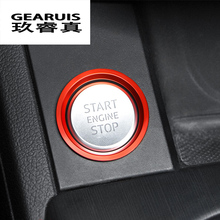 Buy Car Styling Key Start Button Decorative Frame Cover Trim metal sticker Audi A4 B9 A6 C7 Q7 A7 A8 Interior Auto Accessories for $6.50 in AliExpress store