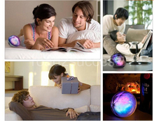 Remote control speaker Color Changing speaker wireless audio player LED Light Magic Crystal Color Ball speaker 5pcs/lot