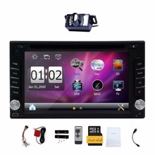 2 Din Digital Touch Screen Car DVD Player GPS Navigation Car Stereo Built-in Bluetooth Radio Audio Player FM AM RDS+Free Camera(China)