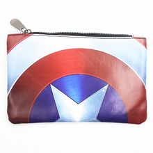 New Comics Dc Marvel the Avengers Captain America Iron Man Thor Wallet Long Purse Phone Bags Make Up Bag Multifunctional Wallets