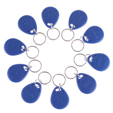 High Quality 10 Pcs/lot  New Proximity ID Token Tag Key Fob 125Khz RFID Plastic Water Resist Door Entry Access Control Use