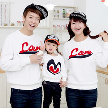 Korean Family fitted Autumn 2017 new family pack home mother father baby tshirt long sleeve T-shirts factory direct wholesale(China)