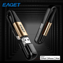 Eaget I90 USB Flash Drives 64GB 128GB USB 3.0 Charging Memory Flash Drive USB Stick Pen Drive Multi Pendrive For IPhone Laptop