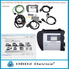 Promotion! Cost Effective mb star c4 sd connect with Compact C4 strong WiFi card & free shipping For C4 diagnostic 2017.09 hdd(China)