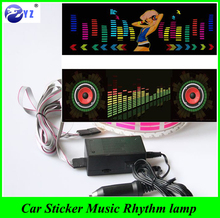1Pcs car styling Music Rhythm EQ Sticker Music Equalizer on Car Windshield LED Sound Activated EL Sheet Glue Stickers 90*25 cm