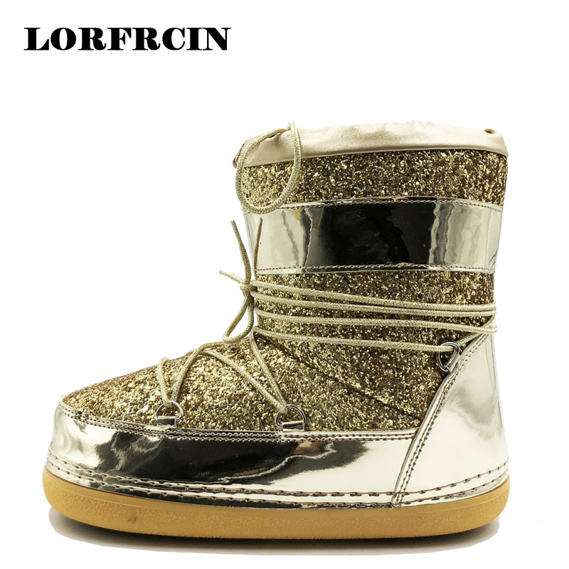 LORFRCIN Winter Womens Boots Ankle Snow Boots For Women Space Boots Work Safety Shoes Plush Warm Waterproof Ski Shoes Woman<br>