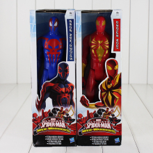 29cm Marvel Superhero Spiderman Figure Toy Ultimate Spider-Man 2099 Iron Spider Action Figure Cool Model for Children
