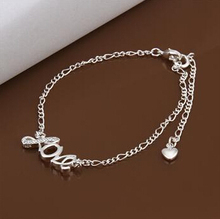 Anklet 925 silver anklet  925 silver   fashion jewelry anklet  for modern women jewelry free shipping djhg  LA001