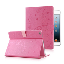 For Apple iPad 2 3 4 Cute Hello Kitty Stand Magnetic Smart Tablet Case  Cover Girl Kids Gift Tablet Personal Computer protect ca