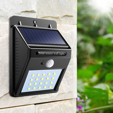 20 led Outdoor Solar Sensor LED Light PIR Motion Sensor solar lamp Detection Range With Dusk to Dawn Dark Security light(China)