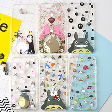 Anime Kawaii Totoro Cartoon Adorable New Case Cover Transparent TPU Surrounded by airbag design For iPhone 7 7Plus 6 6s 8 Plus