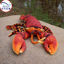 High quality plush toy 58cm red lobster stuffed toy pillow for kids(China)